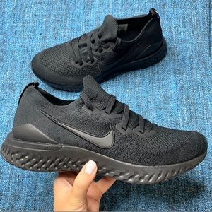 Nike Epic React Flyknit 2 Sneakers Triple Black